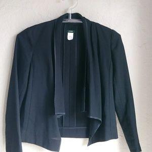 J crew Cascade Black Wool Jacket with trim Sz 0